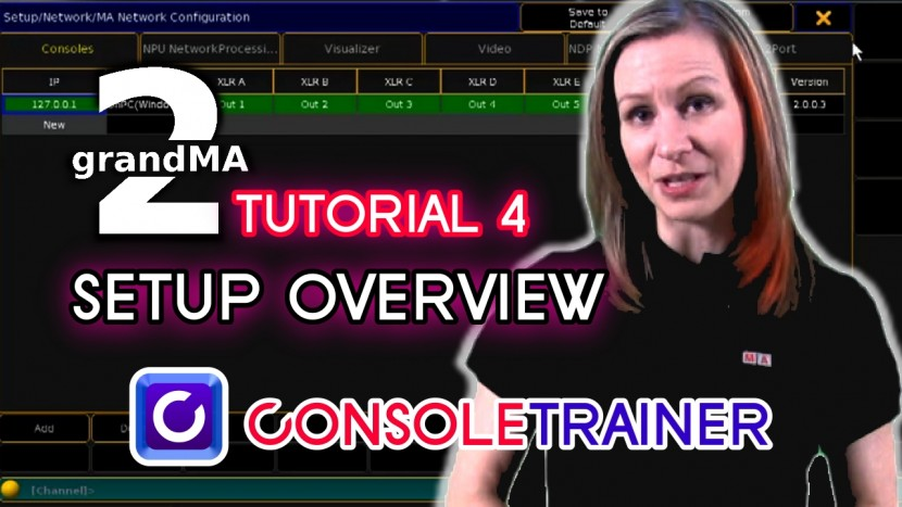 grandMA2 Tutorial 4: SETUP Overview