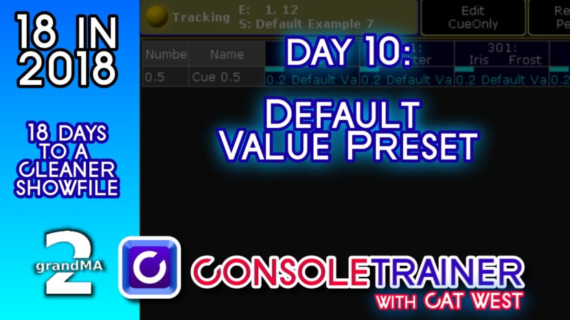 18 in 2018- Day Ten: Default Value Preset