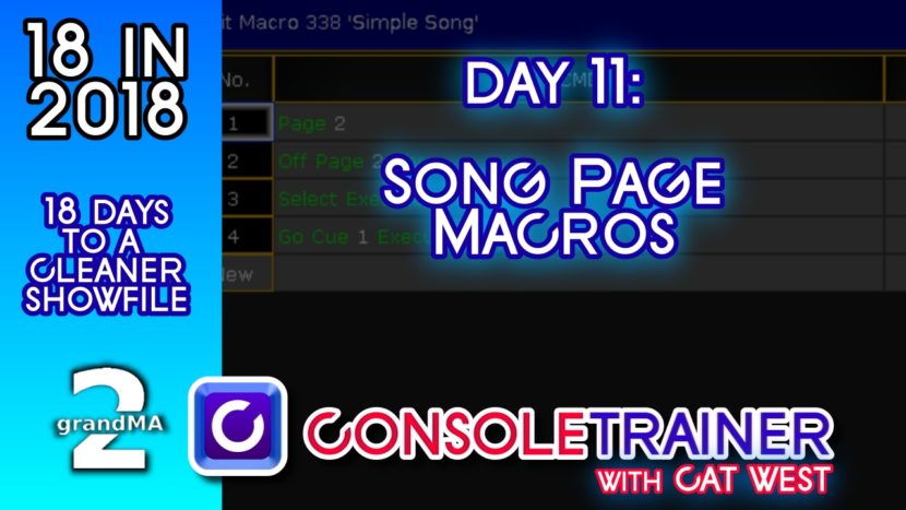 18 in 2018- Day Eleven: Song Page Macros