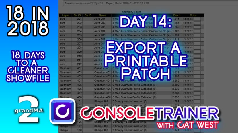 18 in 2018- Day Fourteen: Export A Printable Patch