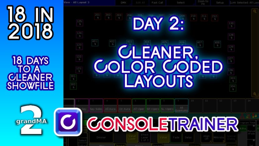 18 in 2018- Day Two: Cleaner, Color Coded Layouts