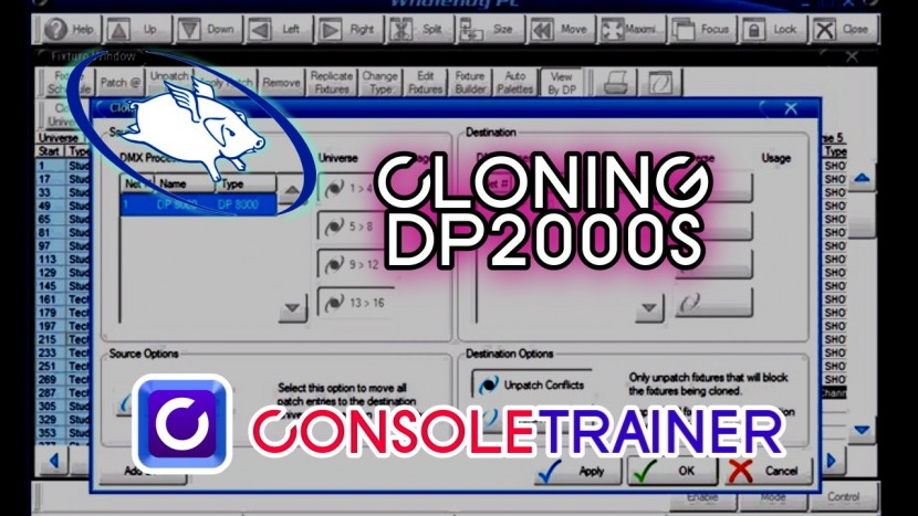 Wholehog Tutorial 7: Cloning DMX Processors