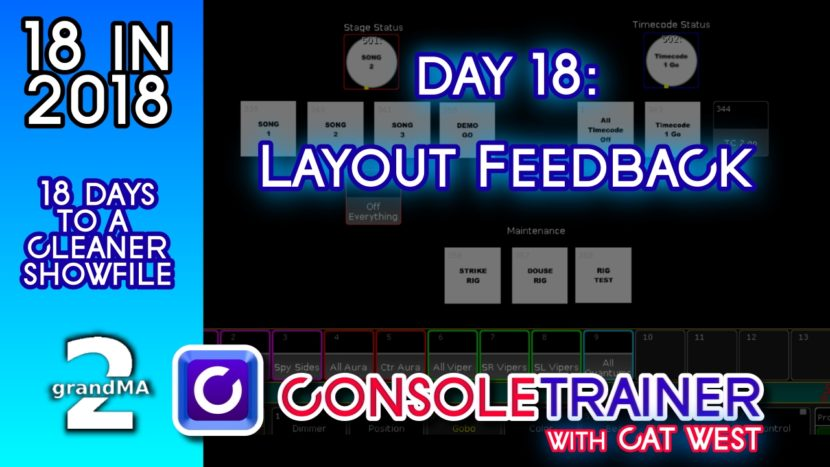 18 in 2018- Day Eighteen: Layout Feedback