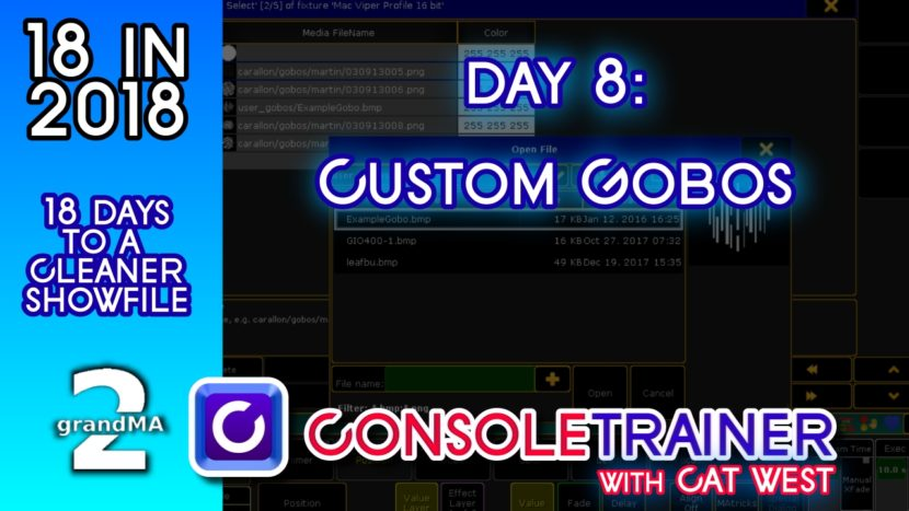 18 in 2018- Day Eight: Adding Custom Gobos