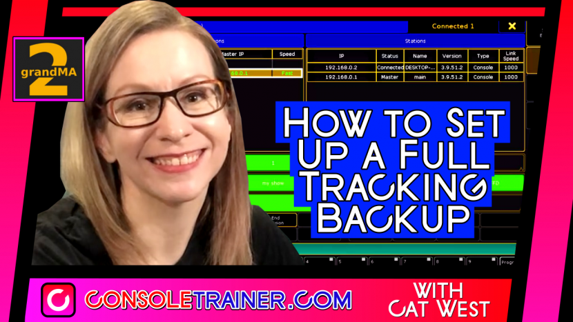How to Set Up a Full Tracking Backup – grandMA2