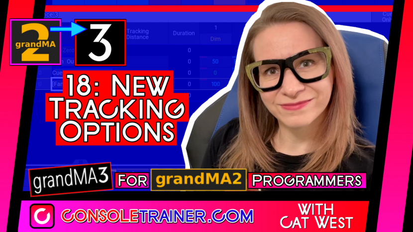 18: New Tracking Options | grandMA3 for grandMA2 Programmers